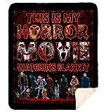 DesDirect Store Blanket - This is My Horror Movie WatchingPremium Mink Sherpa Blanket 60'x80'