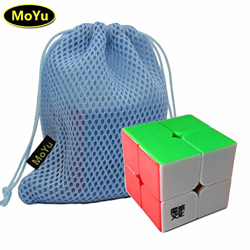 Moyu LingPo 2x2x2 Magic Speed Puzzle Cube Toy Stickerless + (a Cube Bag)