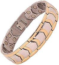 AMAZHEAL Metal Silver Plated Bio Magnetic Bracelet For Men
