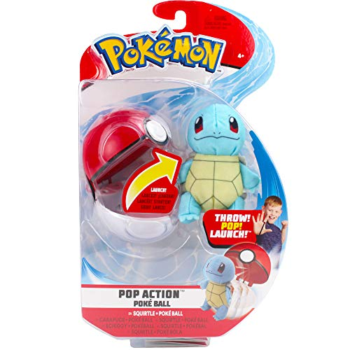 PoKéMoN Squirtle & Pokéball Toss 'N Pop Action, Newest Edition for 2020, Catch 'Em All