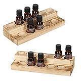 Haitral - Estantería para esmalte de uñas de madera, botellero para aceites...