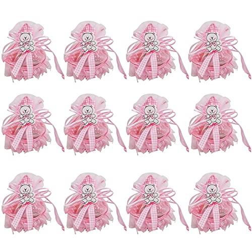 Advanced 12PCS / Lot Candy Boîte Belle Ours Rose et Blue Baby Boy Girl Girl Coffre-cadeau Baby Douche Anniversaire Décorations Fête Enfants Fournitures Fournitures de Noël Fournitures de fête de Noël