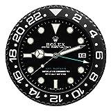 Rolex GMT 2 Classic - Reloj de pared, diseño de réplica, color negro