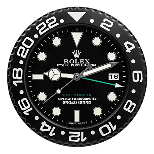 Wallclock, Wall Clock Rolex GMT Black