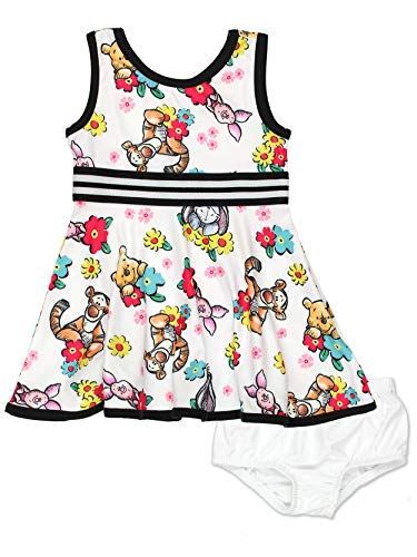 Winnie The Pooh Baby Girls Fit and Flare Ultra Soft Dress (24 Months, Winnie Baby)