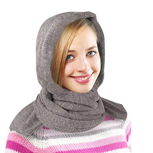 35 Below Marled Hooded Scarf, Fleece Lining - Head Scarf/Winter Scarf - Oatmeal
