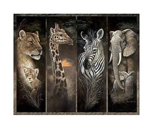 CXFRPU Klassische Puzzle 300/500/1000/1500 Stück Puzzle-Pride of Afrika, Afrikanischer Dschungel-Tiere;Löwe, Giraffe, Elefant und Zebra (Size : 1000P)