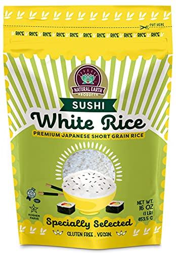 White Sushi Rice, Premium Japanese Short Grain Rice,...