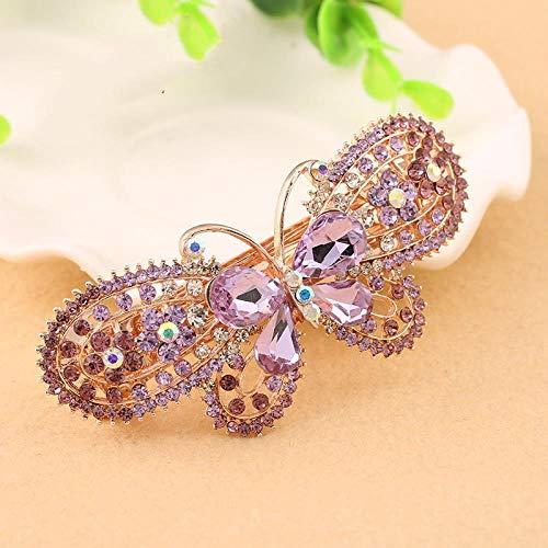 Style Coréen, Papillon En Or Rose, Diamant, Coiffe De Grande Pince Pour Ressort Adaptée Aux Femmes (Paquet De 5), Style 4