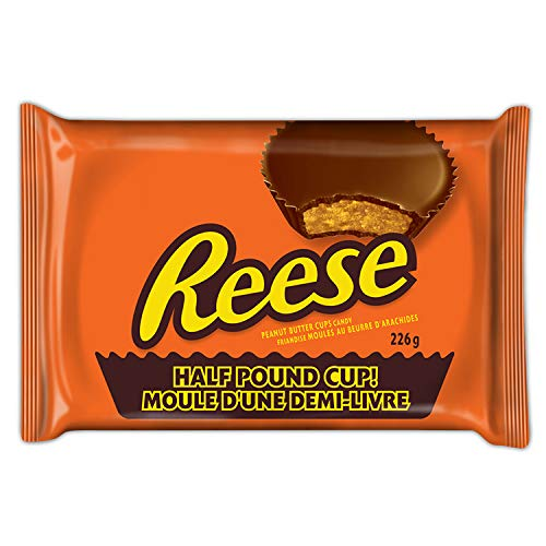 Reese's Half Pound Milk Chocolate Peanut Butter Cup Candy Holiday Gift Pack (8 Ounce .), 24 Ounce