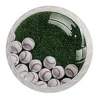 キャビネットノブラウンド引き出しは4個を引っ張るグリーンターフ野球ドレッサー引き出し、キャビネット用
