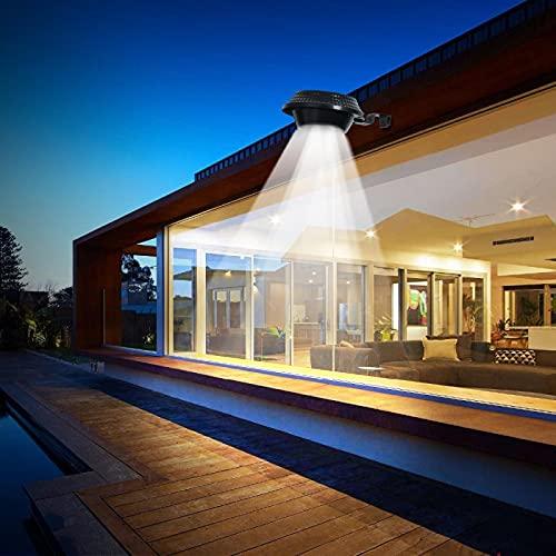 HehiFRlark 4 12 luces solares llevadas del sensor, luces solares del fregadero, jardín iluminación al aire libre valla seguridad patio luces
