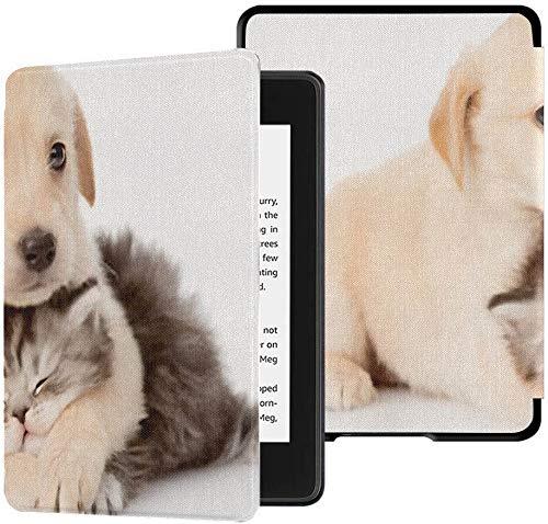Geheel nieuwe Kindle Paperwhite Waterveilige stoffen hoes (10e generatie, release 2018), Golden Retriever Puppy Dog knuffelen Britse tablethoes