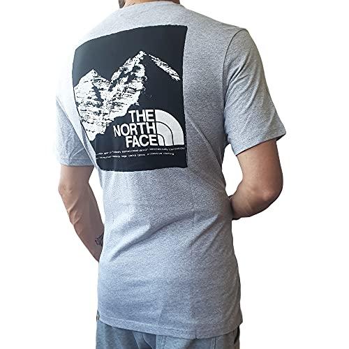 The North Face Camiseta de hombre Graphic gris, cód. 3S3R-GAU, Gris / Negro, XS