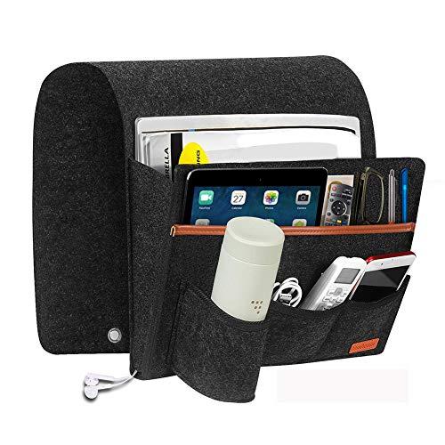 リモコンポケット ソファー掛け袋 小物入れ ベッドサイド収納ポケット 便利 多機能 ipad 携带电话 雑誌 雑貨整理 収納袋