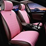 Red Rain Universal Seat Covers for Cars Leather Seat Cover Pink Car Seat Cover 2/3 Covered 11PCS Fit Car/Auto/Truck/SUV...
