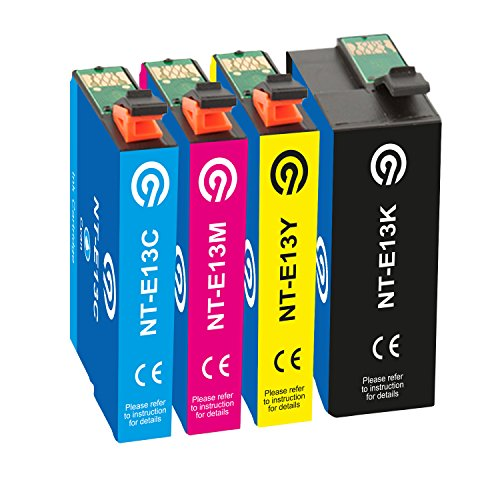 Farbset 4X Original NINETEC NT-4E13M Tintenpatronen kompatibel mit Epson T1301 T1302 T1303 T1304