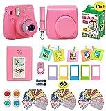 Fujifilm instax Mini 9 Instant Camera Flamingo Pink + 20 Instant Film Pack, Instax Case + Instax Accessories...