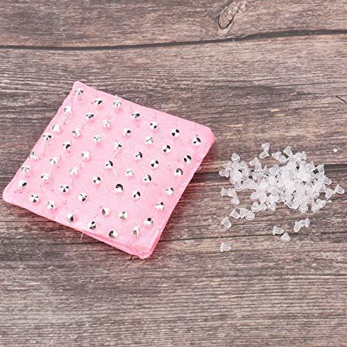 SALUTUYA Accesorios de joyería 98 Uds, Perno Prisionero de Metal Suave, antioxidante para Evitar Que el Orificio de la Oreja se bloquee