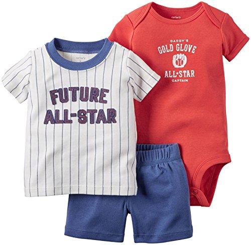 カーターズ Carter's ボディスーツ + tシャツ + パンツ 豪華3点セット 3-Piece Bodysuit & Shorts Set 18M (78-83cm) [並行輸入品]