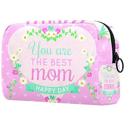 Borsa per cosmetici Borsa per il trucco Borsa da viaggio con pochette per cosmetici Borsa da toilette,sei la migliore mamma felice giorno