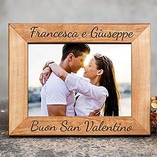 Cornice foto personalizzata con i propri nomi della coppia realizzata artigianalmente perfetta per regalo coppia san valen...