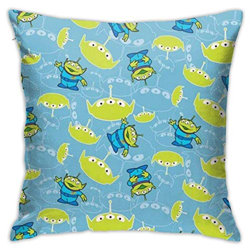 Yuanmeiju Throw Pillow Covers 18'X 18'inch- Toy Story-Alien-Square Shape Decorative Cushion Cover For Couch Sofa Pillow Set