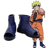 BELUNOT Anime Naruto Akatsuki Nanja Cosplay Shoes Uzumaki Sakura Sasuke Kakashi Black Blue Sandals Custom-Made 42 Black