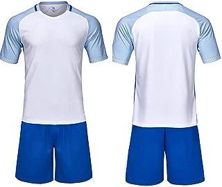 Camiseta de fútbol de Manga Corta para jóvenes Conjunto de chándal de Atletismo para Correr Chaqueta de chándal de tamaño para niños con Pantalones