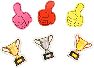 6-Packs Thumbs and Trophy Paper Magnet Office School Reward Magnet Set, 40mm