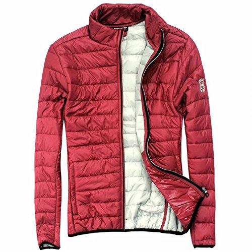 EXUMA Damen Sportbekleidung Aufgeblasen Jacke, Burgundy, XL
