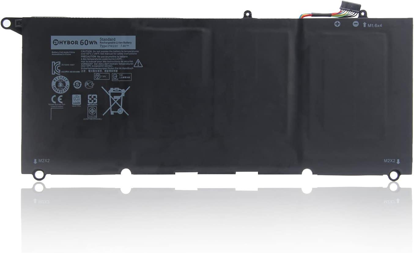 RHYBOR 60Wh PW23Y Laptop Battery Compatible with Dell XPS 13 9360 P54G002 13-9360-D1609 13-9360-D1605G 13-9360-D1605T 13-9360-D1609G 13-9360-D1705G Series Replacement TP1GT RNP72 0RNP72 0TP1GT
