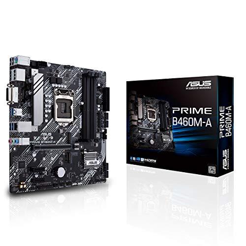 ASUS Prime B460M-A - Placa Base mATX Intel de 10a Gen LGA 1200, Dual M.2, DDR4 2933 MHz, LAN 1Gb, HDMI, DP, USB 3.2 Gen 1, soporta Intel Optane y Cabezal Aura Sync RGB