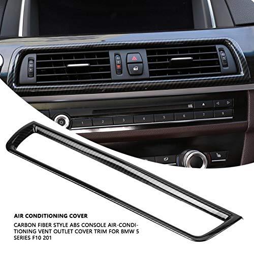 TRJGDCP F10 Fibra De 1Carbon Consola De Aire Acondicionado Salida De Ventilación del Ajuste De La Cubierta For BMW 5 Series 2011-2016 Accesorios For El Coche Autopartes