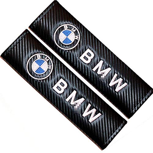 2PCS Car Sefety Seat Belt Cover For BMW,Carbon Fiber Effect Shoulder Pads, Breathable Car Seat Belt Shoulder Strap,Car Styling Interior Accessories