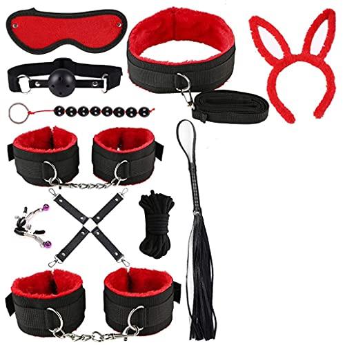 E-DIDI equipo de deportes de béisbol al aire libre 11 piezas dispositivo de restricción y accesorios de decoración del partido adecuado para playa tropical (rojo)-A349