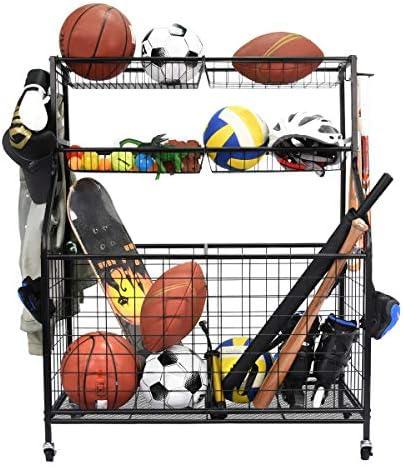Kinghouse Garage Sports Equipment Organizer Ball Storage Rack Garage Ball Storage Sports Gear product image