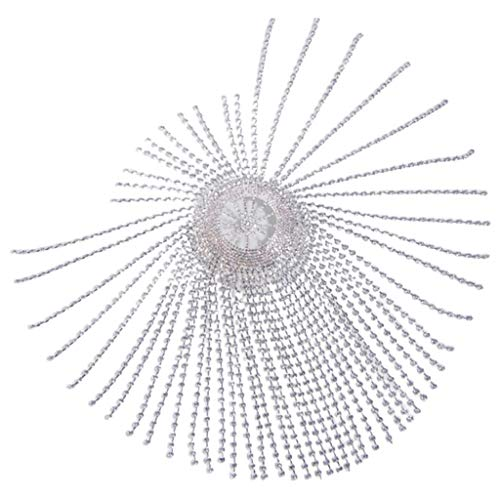 JHD Vintage 1920er Jahre Kristall Perlen Flapper Cap Kopfstück Glitter Strass Quasten Tanz Hut Cosplay Thema Party Schmuck Kopfkette Party Haarschmuck
