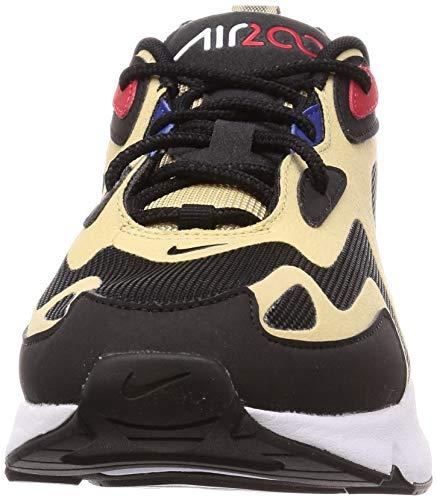 Nike Air MAX 200, Zapatillas para Correr Hombre, Equipo Oro/Universidad Rojo/Negro/Blanco, 45.5 EU