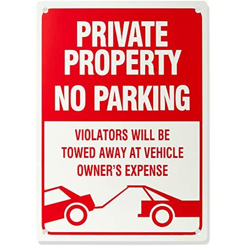 "AmazonBasics No Parking Sign, Private Property, 14"" x 10"""