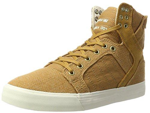 Supra Men's Skytop Tan/Bone White Athletic Shoe