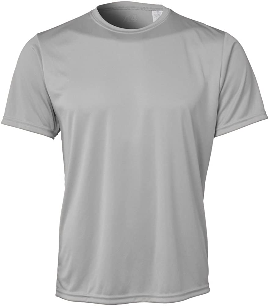 A4 Regular store Max 43% OFF Adult Solid Color Crew T-Shirt Performance