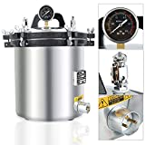 Simoner 18 L 5Gal Electric Heated Autoclave Steam Sterilizer, Aluminum Alloy Steam Autoclave Sterilizer Unit for Tattoo Dental Commerical Use