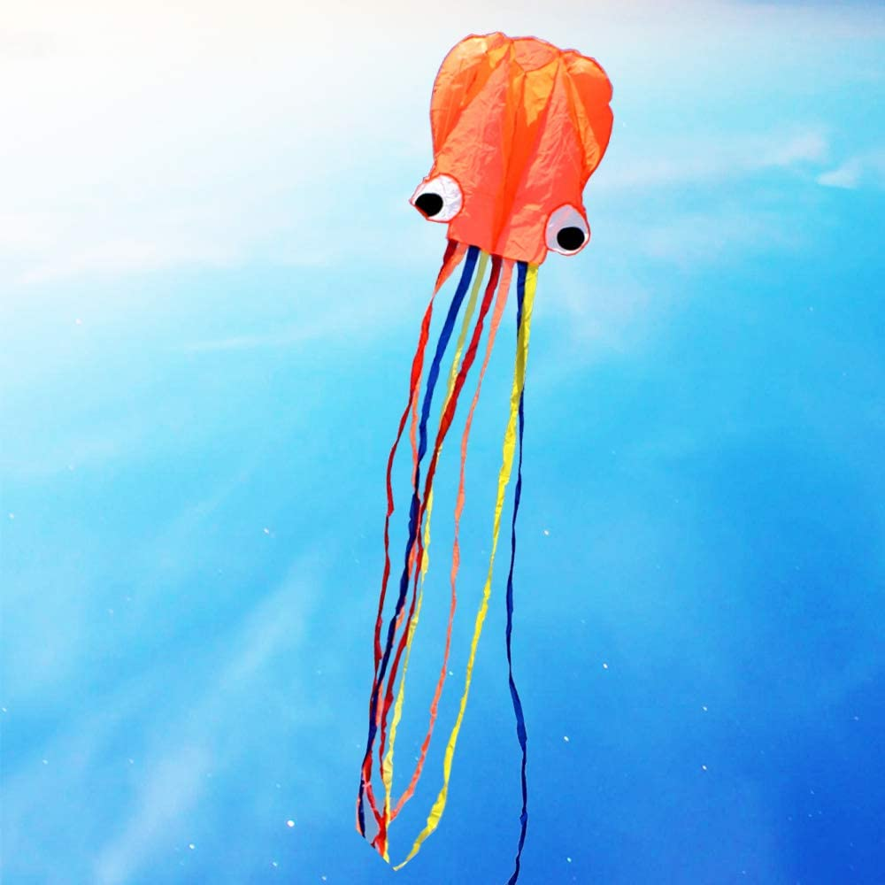 UiUNLY Software Red Octopus Kite for Fly Easy Kids Max 60% OFF with 5 ☆ popular to Adult