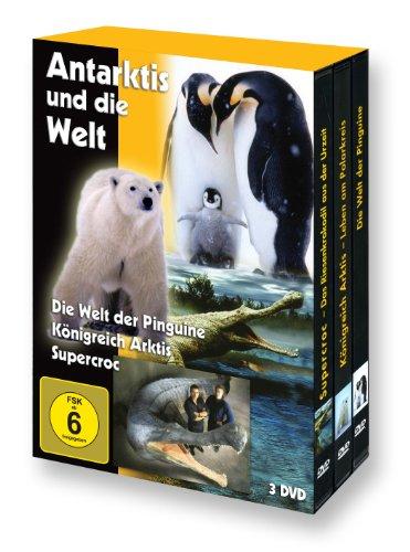 Antarktis und die Welt (Die Welt der Pinguine - Königreich Arktis - Supercroc) - 3 DVD Box