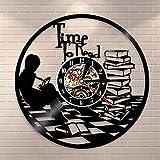 Libros de Lectura para Adolescentes, Arte de Pared, Tiempo para Leer, Cita inspiradora, Reloj de Pared, Biblioteca, Reloj de Vinilo Decorativo, Reloj de Libros, Regalo