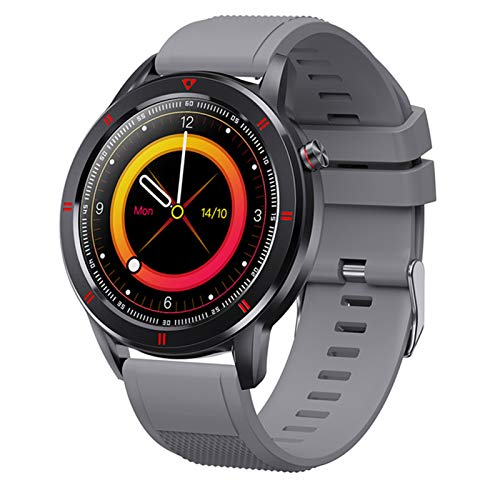 Youth1 New Bluetooth Smart Watch Impermeable Smartwatch Sports Watch Sports Rate Sleep Monitor SMS Recordatorio Touch Full Fitness Band para Android iOS,E