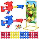 Hopeace Shooting Game Boy Toys Christmas Birthday Gift for Boys Age for 5-10+ Years Old Toy Guns for Boys 2pk Foam Ball Guns & Shooting Target & 48 Foam Balls Indoor & Outdoor Boy Gun Activity