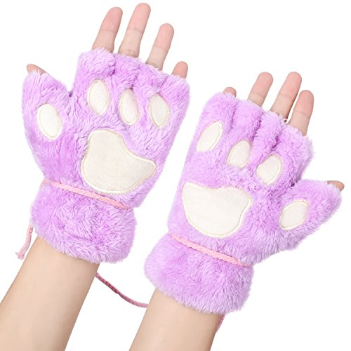 Odema Ladies Bear Cat Throw Claw Glove Guantes suaves...