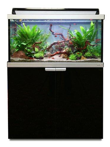 Fluval 15824 Studio 900, Aquarium-Schrank-Kombination, 180 l, schwarz
